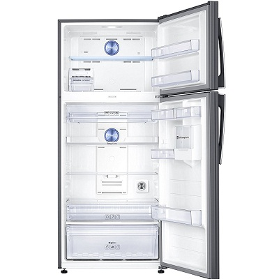 samsung 551 l rt56k6378sl top mount freezer with digital inverter double door refrigerator ssscart. Black Bedroom Furniture Sets. Home Design Ideas